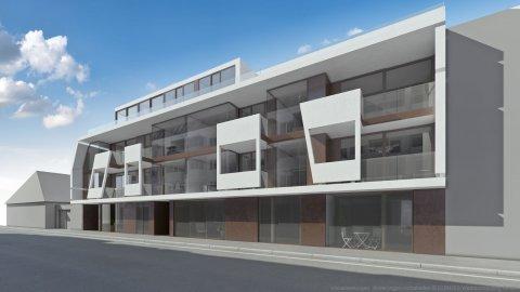 Immobilien-Promotion :: Logogestaltung, Verkaufsbroschüre, 3D Visualisierungen, Werbung vor Ort :: Modern ist Mödling