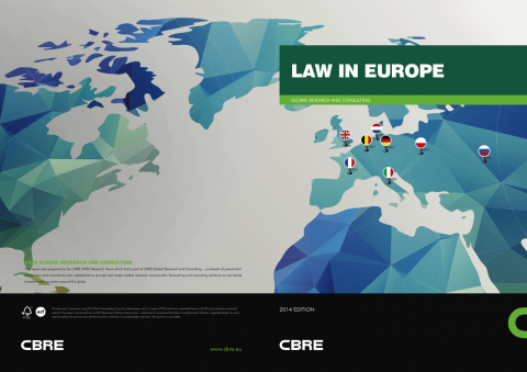 Image-Folder Druck-Produktion für CBRE :: LAW IN EUROPE