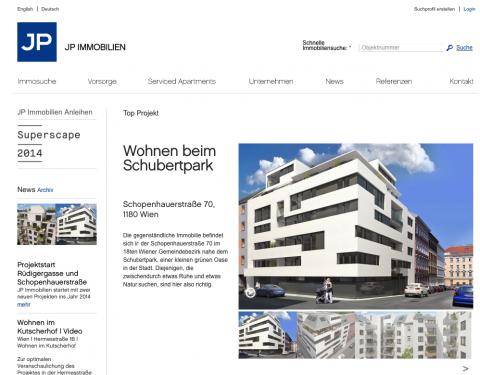 JP Immobilien :: Website :: Homepage :: Aktuelle neue Funktionen und Verbesserungen