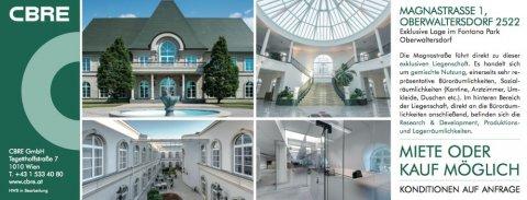 Gestaltung und Mediaplan für CBRE Fontana Park Oberwaltersdorf