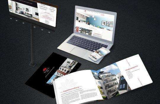 Essenz100 Broschüre, ein Folder