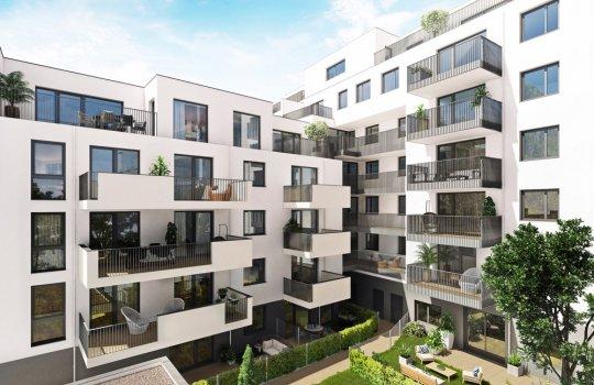Neubauprojekt Saltenstrasse 1; 1220 Wien, 3D Architektur