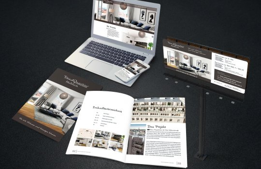Trend Quartier Neilreich Broschüre ein Projekt-Folder