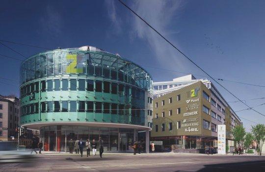 Für TRIUVA Gewerbeimmobilie Büroflächen :: Zentrum Rennweg :: ONLINE Werbung, Folder/Mappe & Website :: Vermarktung durch CBRE