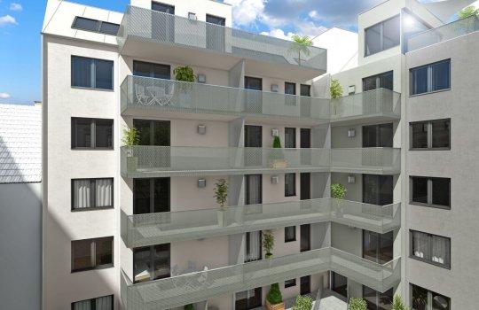 JP Immobilien :: Immobilienprojekt Landgutgasse :: Renderings, 3D Visualisierungen