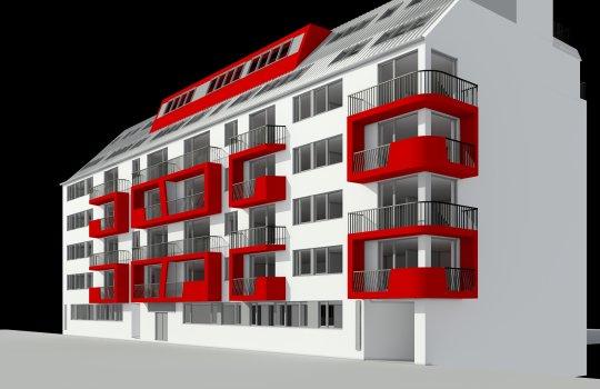 3D Visualisierungen, 3D Renderings, Immobilien-Projekt Leopold Ferstl Gasse, 3D Werbeagentur Wien :: Immobilien-Promotion