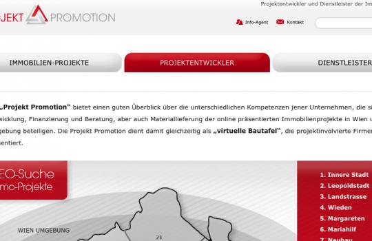 Virtuelle Bautafel Projekt Promotion