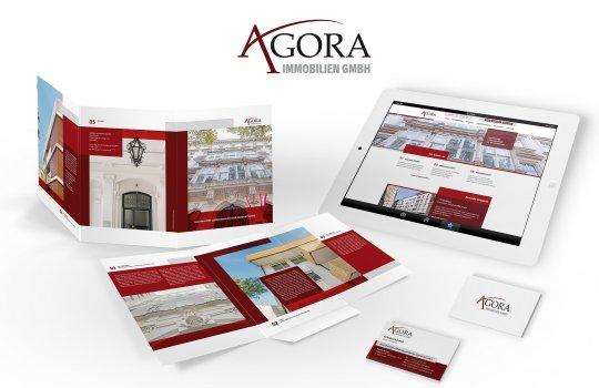 AGORA: Neue Unternehmen Image-Website inkl. Immobiliensuche und Import-Schnittstelle & Kommunikationsunterlagen
