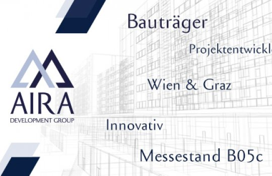 AIRA Bauträger :: für die Wiener Immobilien Messe Anzeigengestaltung, Immobilienanzeige