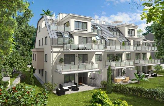 3D Renderings, Architektur in 3D, Immobilien-Projekt in der Liebhartstalstraße 21, 1160