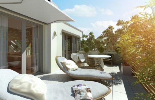 3D Außenvisualisierung, Architektur in 3D, Renderings Projekt Hawelgasse 13,