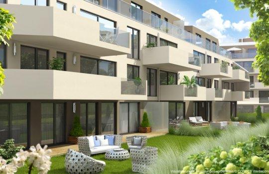 3D Visualisierungen, Imagevideo, Folder Druck, Immobilien-Projekt Hermesstraße 1.