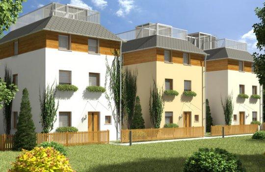 3D Außenvisualisierung, Architektur in 3D, Renderings Projekt Wilhelm Prem-Gasse 5, Klosterneuburg