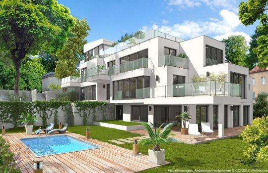 Real Estate Marketing, Immobilien-Promotion, Markenentwicklung, Vermarktungsunterlagen, 3D Renderings, Homepage, Villa Chartreux