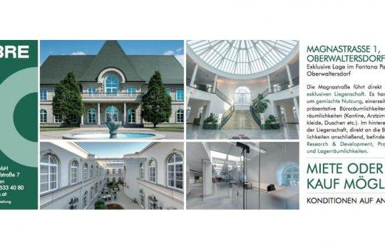 Gestaltung der Anzeige und Mediaplan für CBRE Fontana Park Oberwaltersdorf :: Immobilien-Promotion