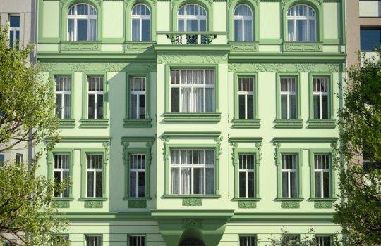 3D Renderings, Architektur in 3D, Immobilien-Projekt Hotel - Pension in Prag, Fassadenstuck in 3D