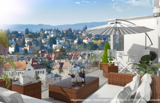 3D Außen und 3D Innenansichten, Architektur in 3D, Renderings für Peter-Jordanstrasse 161