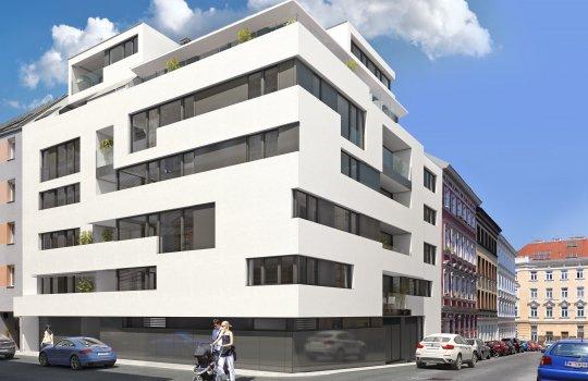 3D Visualisierungen, Renderings, Werbeagentur für das Projekt Schopenhauerstrasse 70
