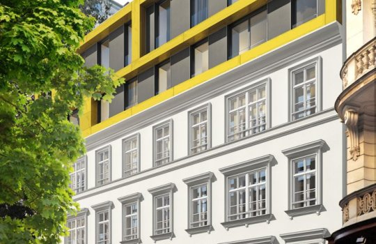 3D Visualisierungen, Folder Druck, Immobilien-Projekt Servitengasse 3.