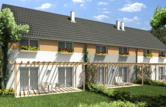 3D Außenvisualisierung, Architektur in 3D, Renderings Projekt Freiheitsstraße 19, Traiskirchen