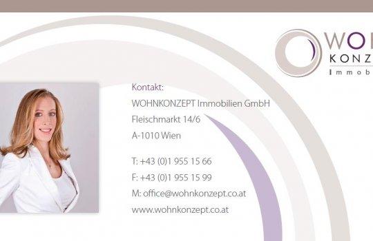 Konzept :: Grafik :: Layout und Druckproduktion :: Compliment Card für WOHNKonzept Immobilien