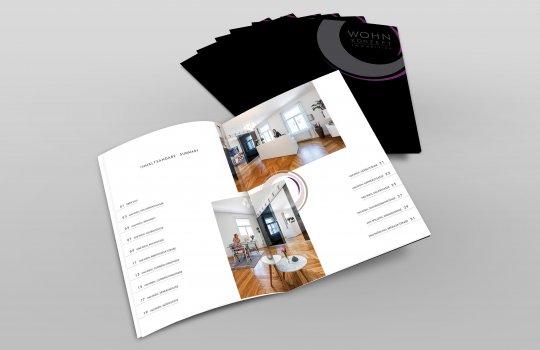 Referenzfolder für Wohnkonzept Immobilien GmbH