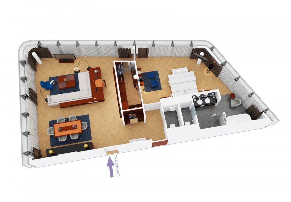 3D Grundrisse Hotel Andaz Vienna