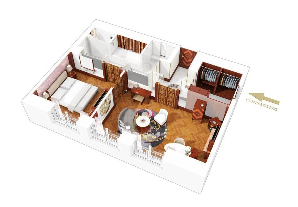 Apartment 3D Grundriss
