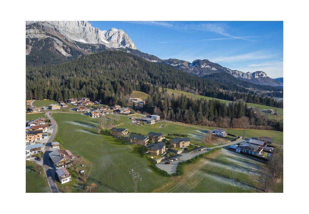 3D Außen-Visualisierung Luftperspektive Wilder Kaiser Kitzbühel CORDES