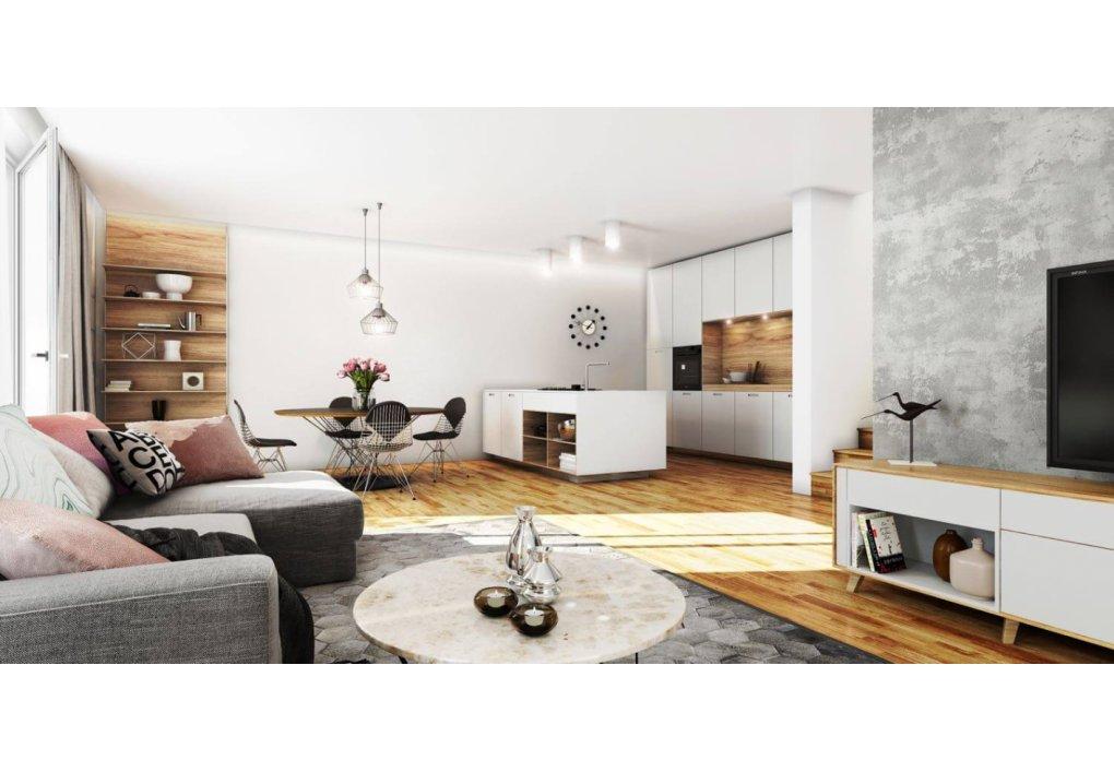 Innenvisualisierung Wohnzimmer MARKHOF Boulevard