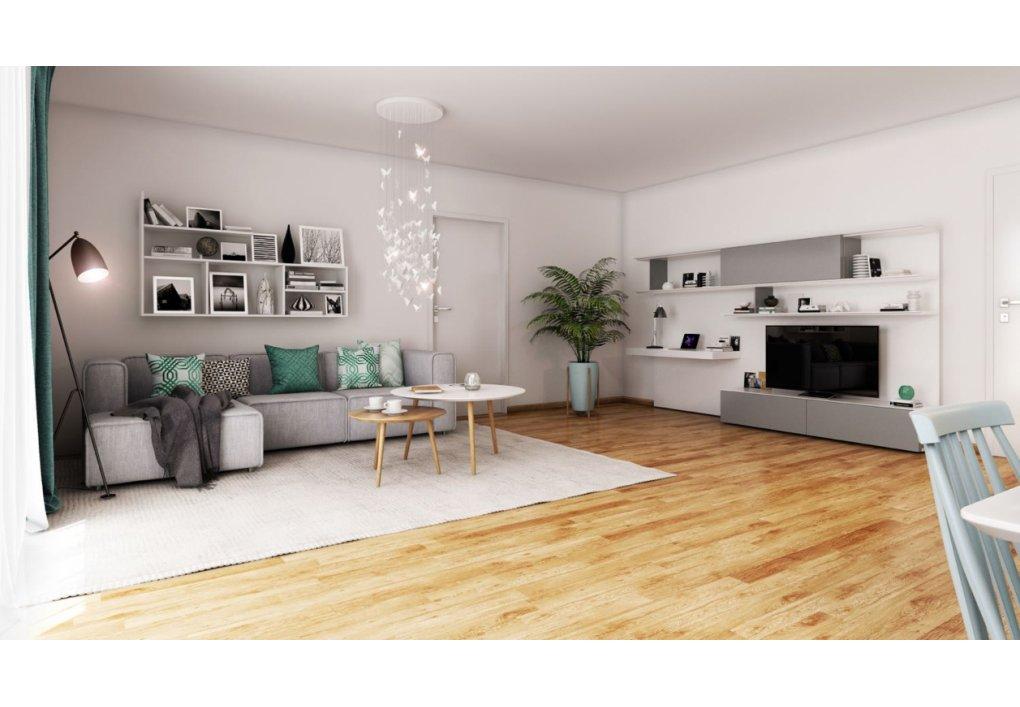 3D Innenvisualisierung Wohnzimmer MARKHOF Boulevard