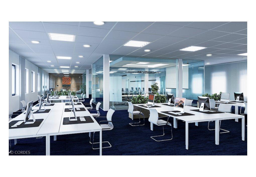 3D Innen-Visualisierung Staner Aupark Gewerbeprojekt Open Space Büro