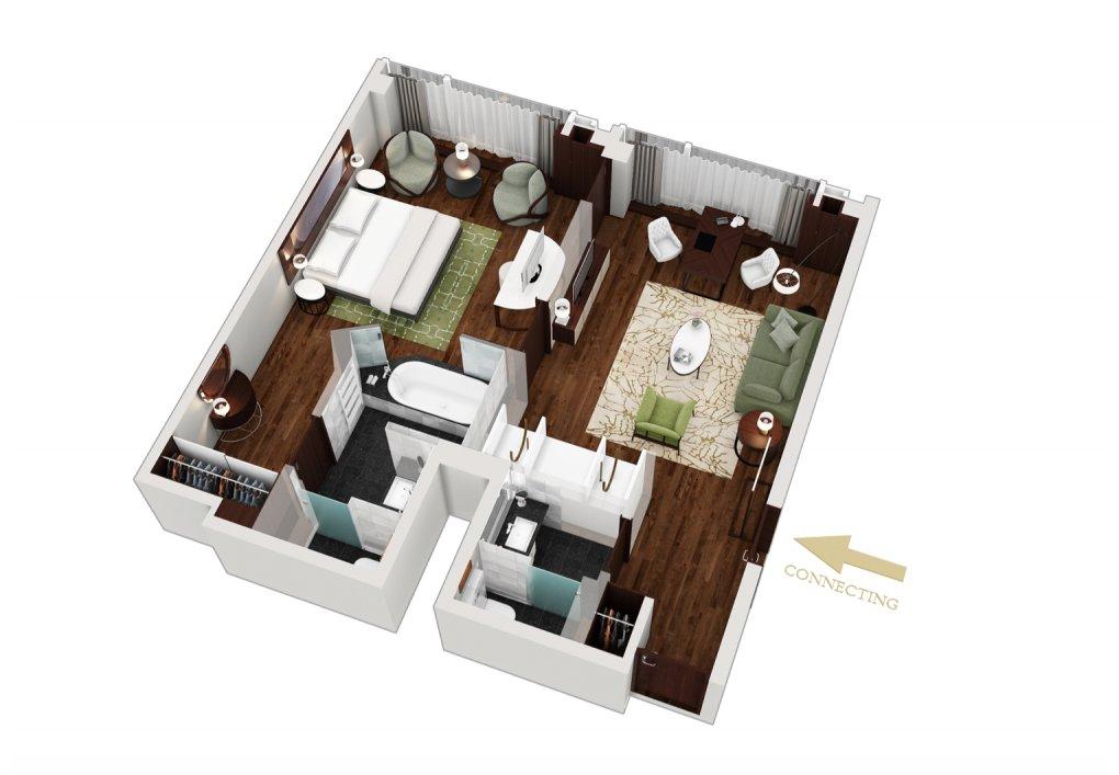 3D Grundrisse der Suiten