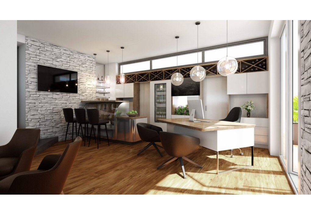 3D Visualisierung Lobby Immobilien-Projekt Parks73