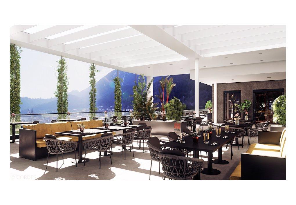 3D Rendering Terrasse Staner Aupark Gewerbeprojekt