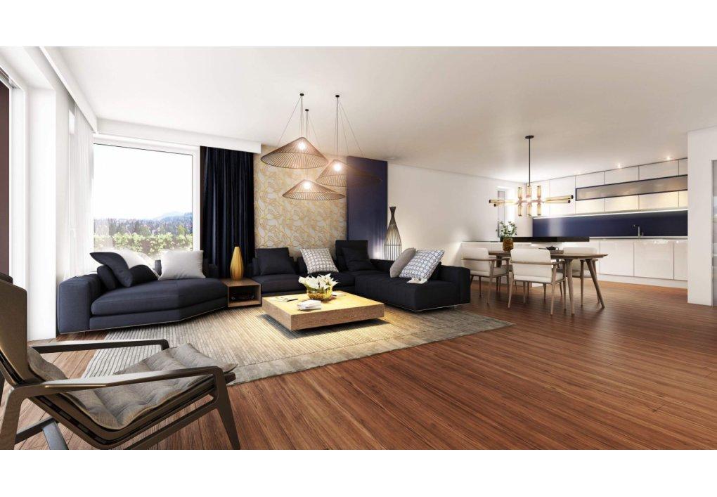 Wohnzimmer TOP 28 Baiernstrasse Innenvisualisierung 3D