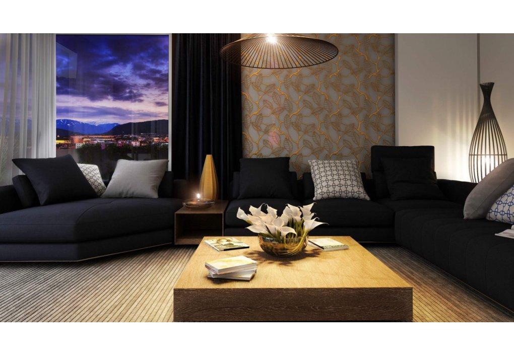 Wohnzimmer Innenvisualisierung 3D Hillresorts am Schlosspark