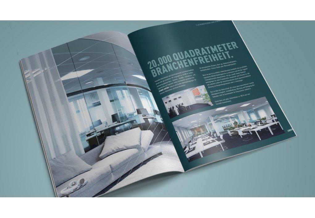 Broschüre, Folder Staner Aupark Gewerbeimmobilien