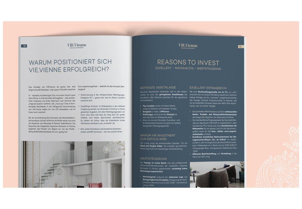 Broschüre für Investoren