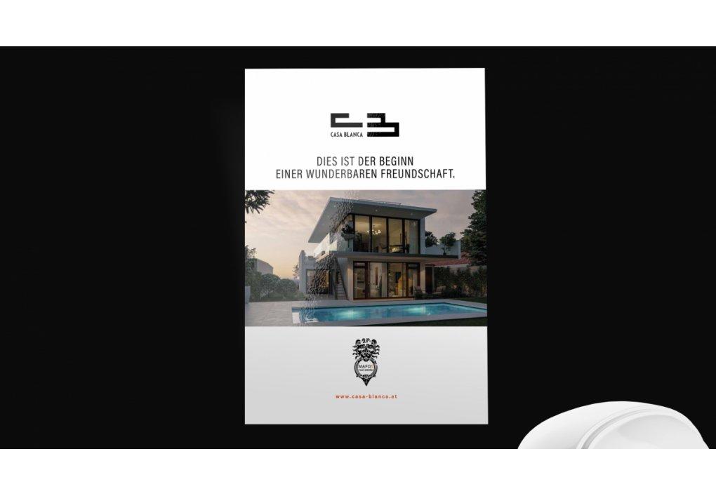 Broschüre , Folder Casa Blanca
