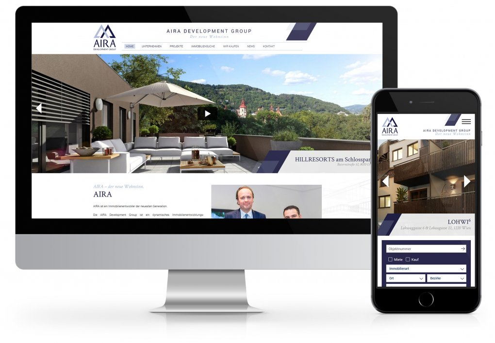 AIRA Website CORDES Werbeconsulting Agentur Wien