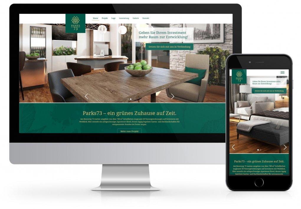Parks73 Website CORDES Werbeconsulting Agentur Wien