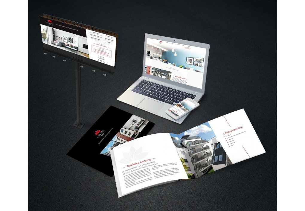 Projekt Essenz 100 Marketingsuntelagen Immobilien Promotion