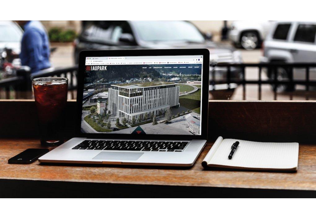 Website, Homepage Staner Aupark Gewerbeprojekt