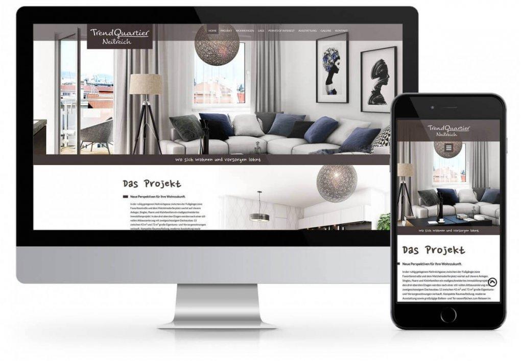 Website für ein Neubauprojekt Neilreichgasse