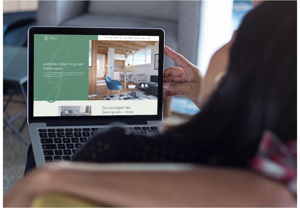 Website, Projekt Homepage Tribus Giardino