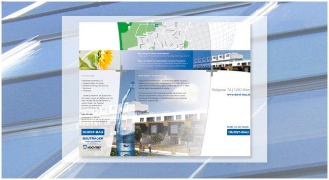 Konzeption einer Folder-Linie zur Vermarktung der einzelnen Projekte