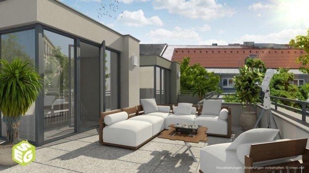 3D Außenperspektive Terrasse