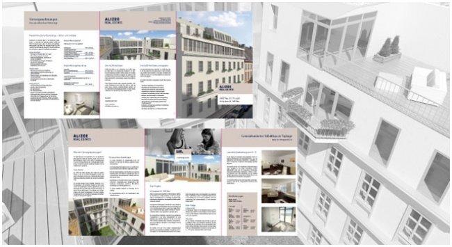 Gestaltung und Produktion des Projektfolders Kirchengasse 38