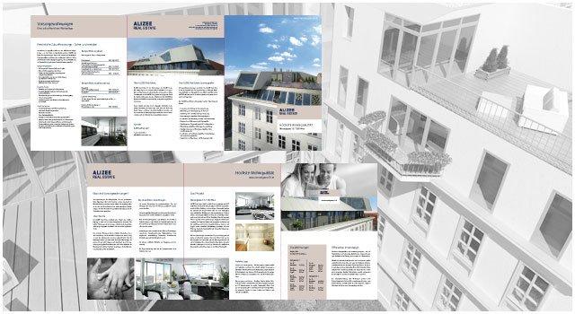 Gestaltung und Produktion der Projektfolder, sowie aller 3D Visualisierungen. Aussenvisualisierungen und Innenvisualisie